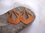 Diamond Shape Copper Earrings
