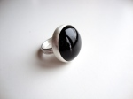 Black Onyx & Sterling Silver Handmade Ring