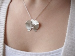 Sterling Silver Handmade Orchid Necklace