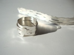 Wrapped Sterling SIlver Birch Bark Ring
