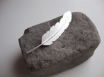 Sterling Silver Handcrafted Feather Brooch