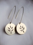 Circle of Life Silver Earrings