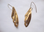 Handmade Brass Wing Earrings