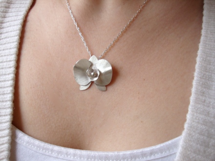 Orchid Necklace - $115